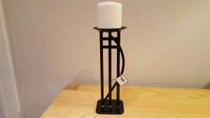 Rennie style wrought iron candle holder